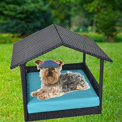LEAPTIME Patio Furniture PE Rattan Pet Home Outdoor Patio Do