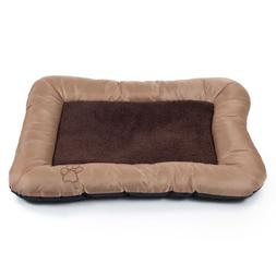 PETMAKER Plush Cozy Pet Crate/Pet Bed, Medium, Tan