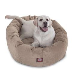 40 inch Pearl Villa Collection Micro Velvet Bagel Dog Bed By