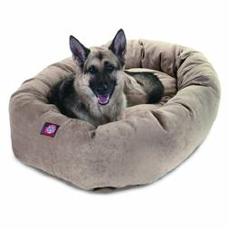 52 inch Pearl Villa Collection Micro Velvet Bagel Dog Bed By