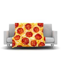 "Kess InHouse Original ""Pizza My Heart"" Pepperoni Cheese Flee"