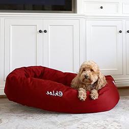 Majestic Pet Personalized Bagel Dog Bed - Machine Washable -