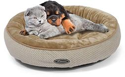 Pecute Pet Bed for Cats and Small Dogs Oval Shape Plush Cudd