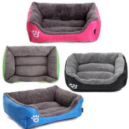 Pet Bed Dog Cat Cushion House  Puppy Warm Kennel Sofa Mat Bl