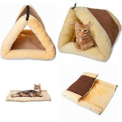 Pet Bed for Dog Cat Crate Mat Soft Warm Pad Liner Tube Cushi