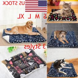 Pet Bed for Dogs Cats Crate Mat Soft Warm Sprinted Pad Liner