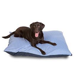 GeoBlend Pet Bed Pillow Style, X-Large, Blue Denim