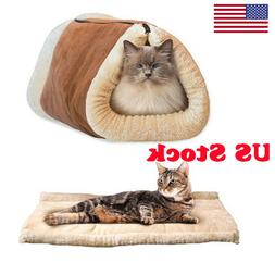 Pet Bed To Dog Cat Crate Mat Warm Pad Liner Home Indoor Outd