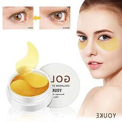 New Crystal 24K Gold Collagen Eye Mask, Anti Aging, Anti Wri