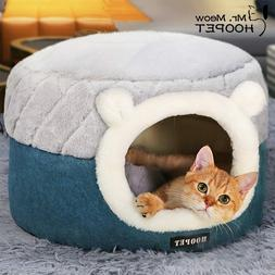 Hoopet Pet Cat Dog Basket Bed House Comfortable Warm Cave Ke