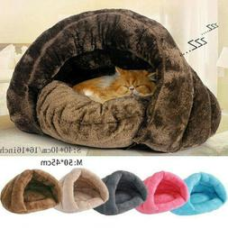 Pet Cat Dog House Kennel Puppy Cave Sleeping Bed Super Soft