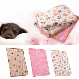 Pet Cat Dog Kitten Warm Blanket Hamsters Coral Velvet Soft B