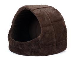 """Best Friends by Sheri Pet Cave in Fur, Dark Chocolate, 18""""x1"""