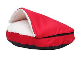Pet Cave and Round Pet Bed for Cats and Small Dogs 25 inches