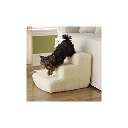 Pet Central Pet Stairs - 3 Soft Sherpa Covered Steps