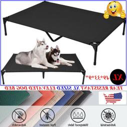 VEEHOO Elevated Dog Bed Cooling Pet Cot Extra Large Size Rai
