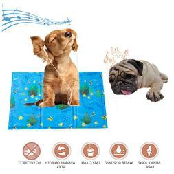 Pet Cooling Mat Cold Ice Silk Pad Non-slip Summer Sleeping B