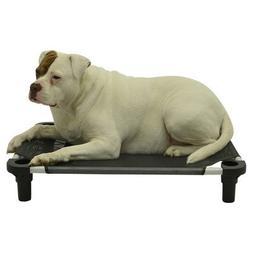 """Pet Cot Size: Large - 40"""" L x 30"""" W, Leg Color: Teal, Fabric"""