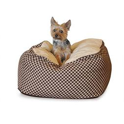 """K&H Pet Products Deluxe Cuddle Cube Small Brown 22"""" x 22"""" x"""