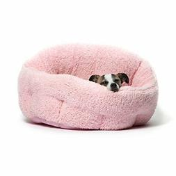 Pet Dog Bed Cuddler Pink Soft Warm Cozy Puppy Cat House Furn