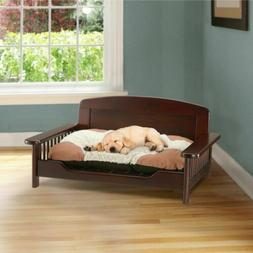 Pet Dog Bed Wood Furniture Wooden Couch Sofa Seat Chair Larg