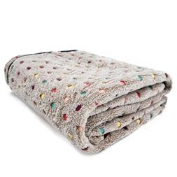 PAWZ Road Pet Dog Blanket Fleece Fabric Soft and Cute Grey M