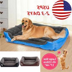Pet Dog Cat Bed Cushion Large Warm Kennel Dog Mat Sleeping B