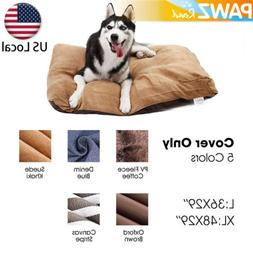 Pet Dog Cat Bed Replacement COVER ONLY Soft Pad Cushion Wash