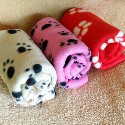 Pet Dog Cat Nice Soft Warm Fleece Paw Print Puppy & Kitten B