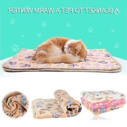 Pet Dog Cat Puppy Kitten Soft Blanket Doggy Warm Bed Mat Paw