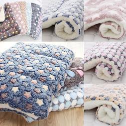 Dog Cat Puppy Pet Plush Blanket Mat Warm Sleeping Soft Bed B