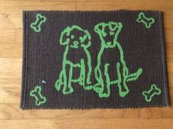 """Park B Smith Pet Food Placement Mat Rug Tapestry Model """"Dogg"""