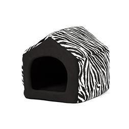 Pet Furniture 2-in-1 Dog House Sofa, Medium , Brown Zebra Pr