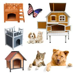 Pet Kennel Small Dog Bed Cat Luxury Shelter House Wooden Cra