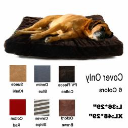 Pet Large Dog Cat Bed Nest Replacement Cover Only Cushion Sl