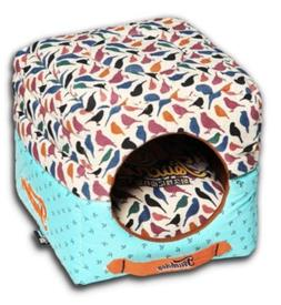 Pet Life Chirpin-Avery Convertible and Reversible Squared 2-