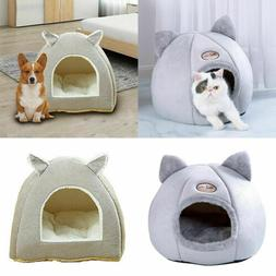 Pet Cat Dog Beds Nest Puppy Sleeping Cushion Cave Plush Warm