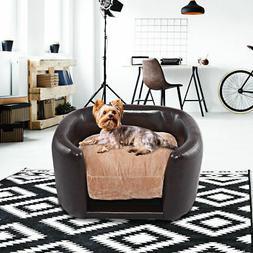 Pet Sofa PVC Lounge Snuggle Soft Warm Dog Puppy Sleeping Bed