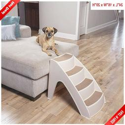 "Pet Stairs 4 Steps Ramp For Couch Bed 20"" Tall Dog Cat Puppy"