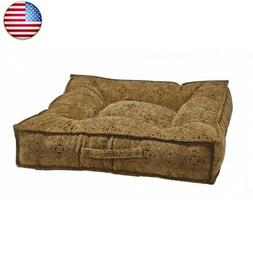 Bowsers Piazza Dog Bed Large, Pewter Bones