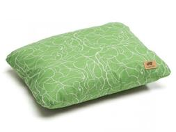 West Paw Design Pillow Dog Bed, Emerald Modern Floral, Small