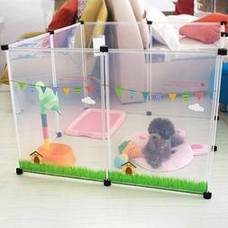 Plastic Fence Pet House Transparent Dog Bed House Playpen Ca