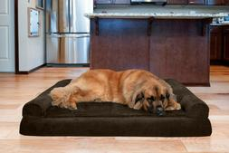 FurHaven Pet Plush & Suede Sofa Dog Bed