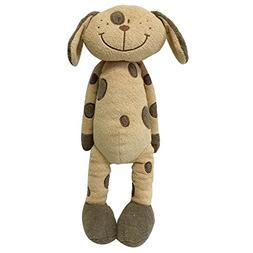 "Snuggle Stuffs Plush Sitting Brown Peppered Puppy Dog, 18"""