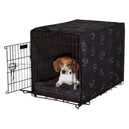ProSelect Polyester Pawprint Dog Crate Cover and Bed Set, X-