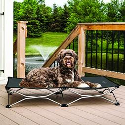 Portable Dog Bed Elevated Fold Away Pet Cot Outdoor Indoor C