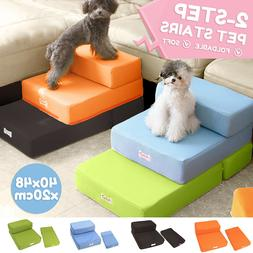 Portable Dog Steps 2 Steps Pet Stairs Small Dogs Cats Ramp L