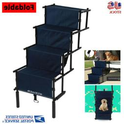 Portable Foldable Pet Puppy 4 Steps Dog Cat Stairs Ladder Cl