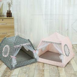 Portable Folding Dog Cat Pet House Bed Tent Indoor Outdoor K