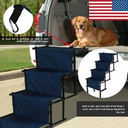 Portable Folding Pet Dog Stairs Ramp 4 Step Bed Ladder Outdo